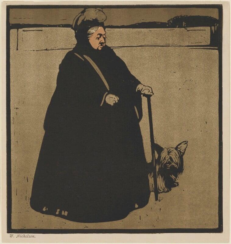 Queen Victoria, published by William Heinemann, after  Sir William Newzam Prior Nicholson, published 1899 (1897) - NPG D33652 - © Desmond Banks