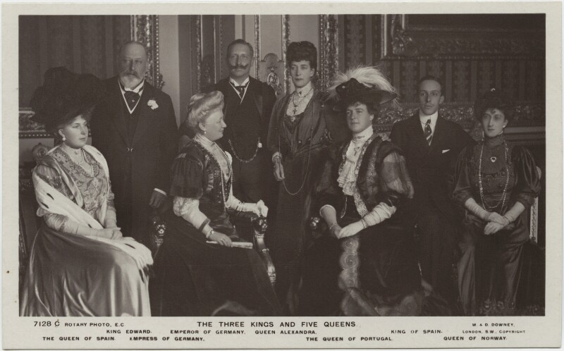 'The Three Kings and Five Queens', by William Edward Downey, for  W. & D. Downey, published by  Rotary Photographic Co Ltd, 17 November 1907 - NPG x132092 - © National Portrait Gallery, London