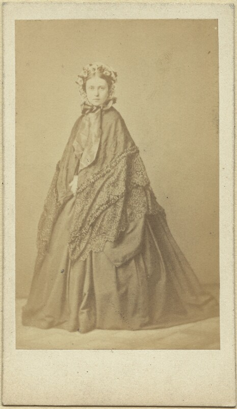 Victoria, Empress of Germany and Queen of Prussia, by L. Haase & Co, early 1860s - NPG x36367 - © National Portrait Gallery, London