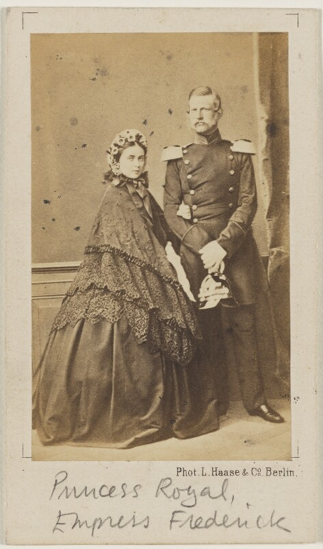 Victoria, Empress of Germany and Queen of Prussia; Frederick III, Emperor of Germany and King of Prussia, by L. Haase & Co, early 1860s - NPG x132094 - © National Portrait Gallery, London