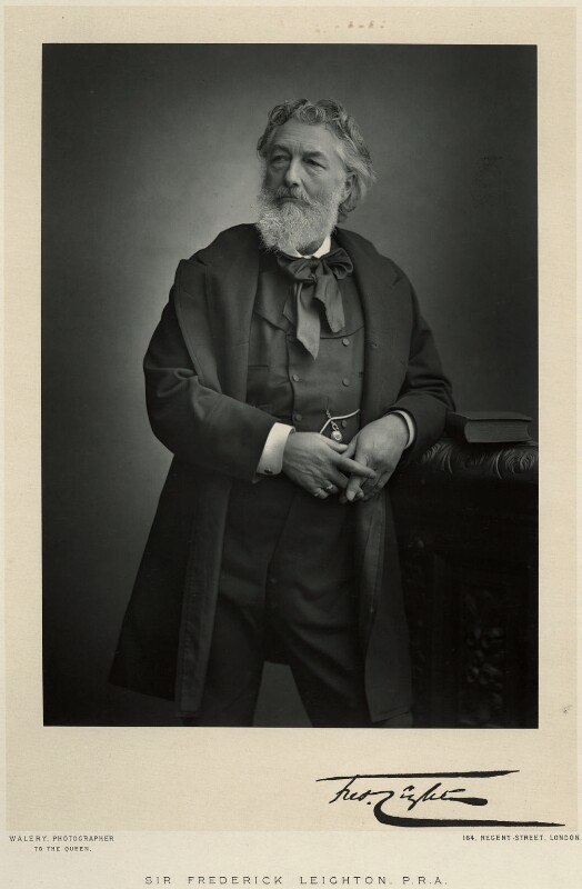 Frederic Leighton, Baron Leighton, by Walery, published by  Sampson Low & Co, published July 1888 - NPG x6148 - © National Portrait Gallery, London