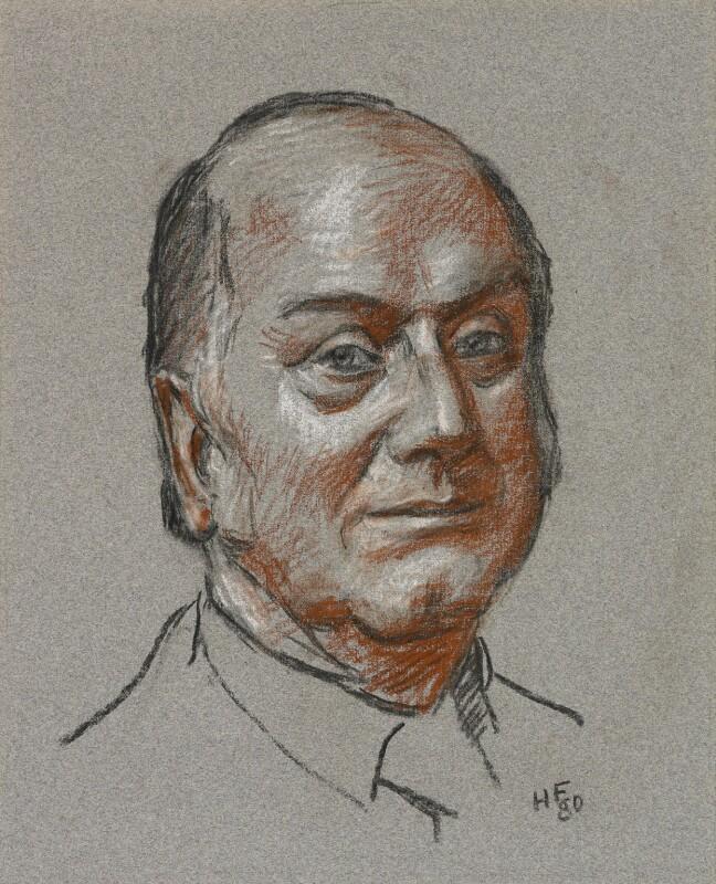 Dennis Lloyd, Baron Lloyd of Hampstead, by Hans Feibusch, 1980 - NPG 6866 - © National Portrait Gallery, London