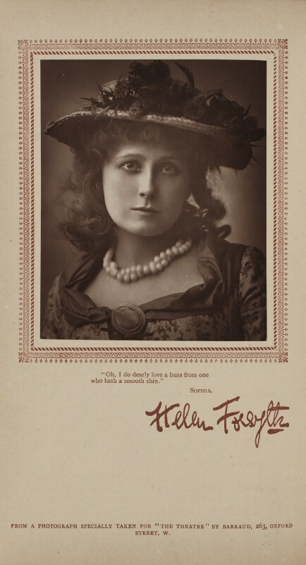Helen Forsyth as Molly Seagrim in 'Sophia', by Herbert Rose Barraud, published by  Carson & Comerford, published 1 June 1886 - NPG Ax29395 - © National Portrait Gallery, London