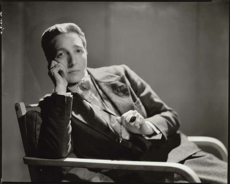 Radclyffe Hall, by Howard Coster, 1932 - NPG x10422 - © National Portrait Gallery, London