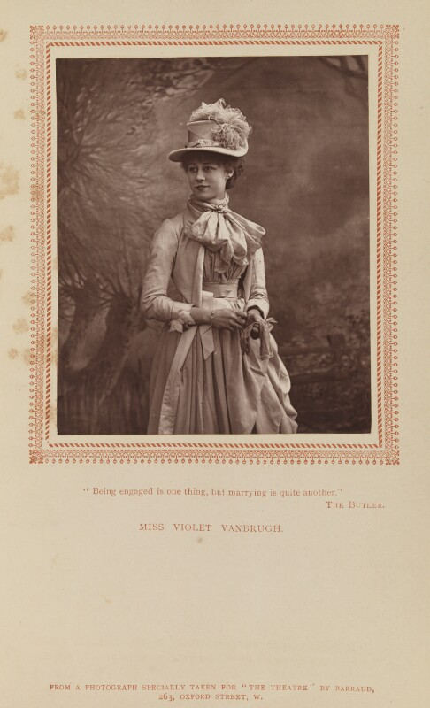 Violet Vanbrugh (Violet Augusta Mary Barnes), by Herbert Rose Barraud, published by  Carson & Comerford, published 1 July 1887 - NPG Ax9298 - © National Portrait Gallery, London
