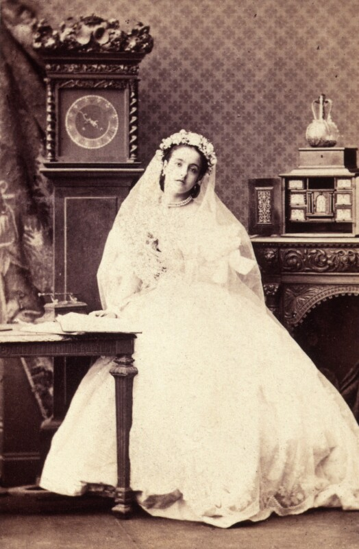 Adelina Patti as Lucia in 'Lucia de Lammermoor', by Camille Silvy, July 1861 - NPG x12677 - © National Portrait Gallery, London