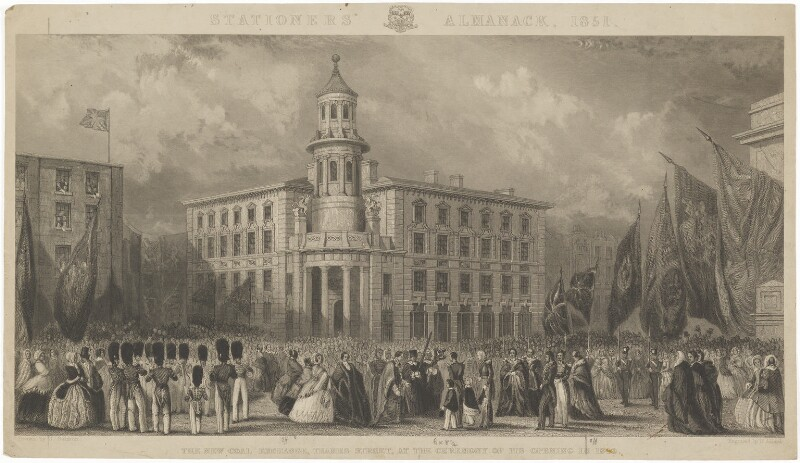 The opening of the new Coal Exchange (Prince Albert of Saxe-Coburg-Gotha), by Henry Adlard, after  John Francis Salmon, published 1851 - NPG D33707 - © National Portrait Gallery, London
