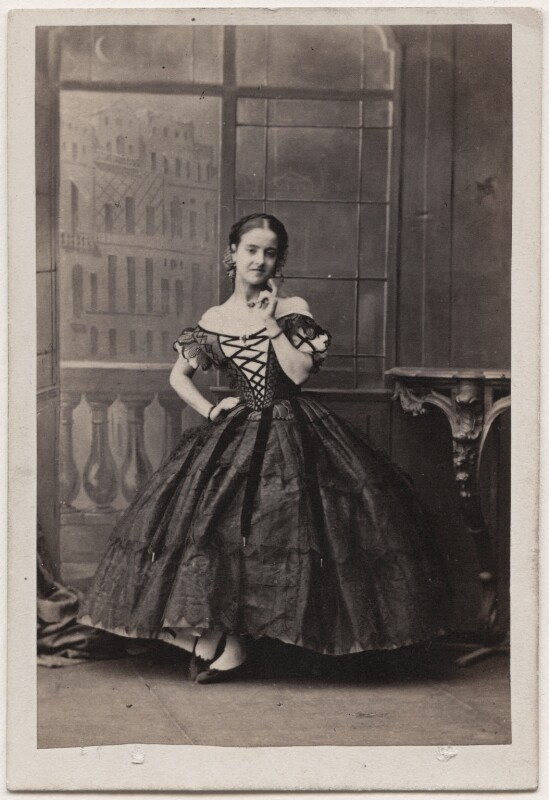 Adelina Patti as Rosina in 'The Barber of Seville', by Camille Silvy, 1861 - NPG Ax25072 - © National Portrait Gallery, London