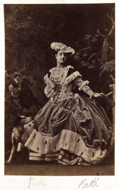 Adelina Patti as Martha in 'Martha', by Camille Silvy, July 1861 - NPG x12680 - © National Portrait Gallery, London