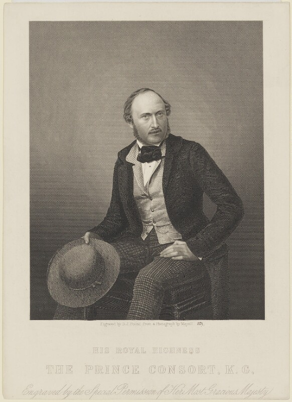 Prince Albert of Saxe-Coburg-Gotha, by Daniel John Pound, after  John Jabez Edwin Mayall, published 1859 (1855) - NPG D33733 - © National Portrait Gallery, London
