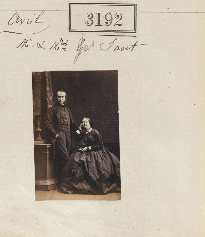 James Sant; Eliza Sant (née Thomson), by Camille Silvy, 21 April 1861 - NPG Ax52592 - © National Portrait Gallery, London