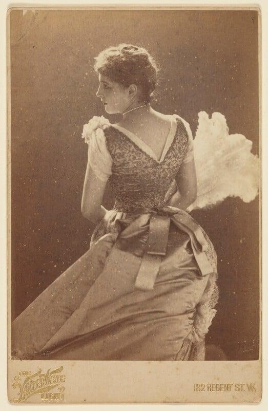 Lillie Langtry, by Henry Van der Weyde, April 1885 - NPG P863 - © National Portrait Gallery, London