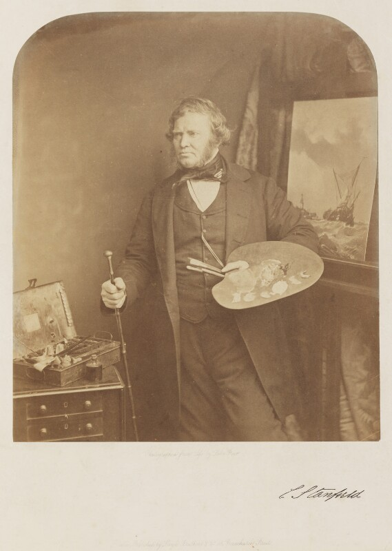 Clarkson Frederick Stanfield, by William Frederick Lake Price, May 1857 - NPG P860 - © National Portrait Gallery, London