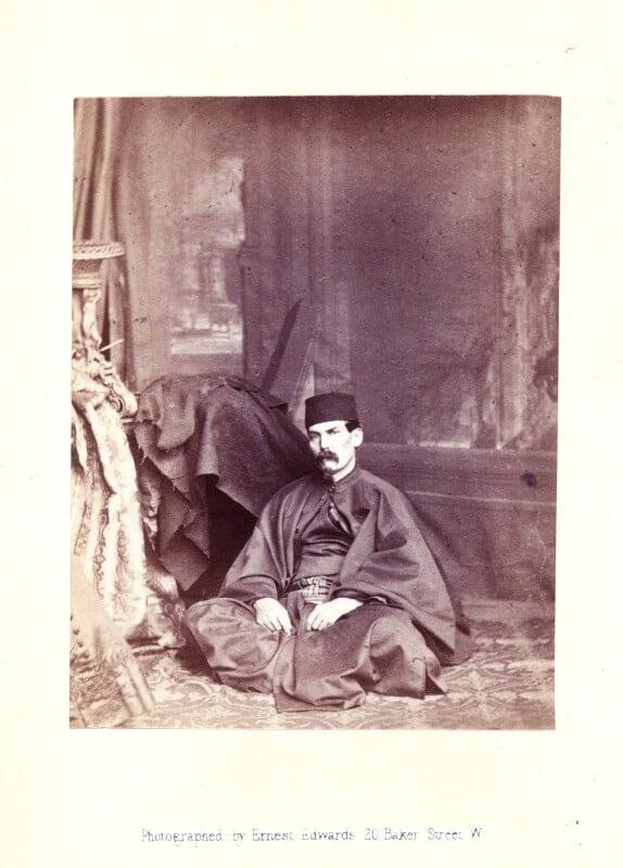 Sir Richard Francis Burton, by Ernest Edwards, published by  Alfred William Bennett, published 1865 (April 1865) - NPG x14771 - © National Portrait Gallery, London