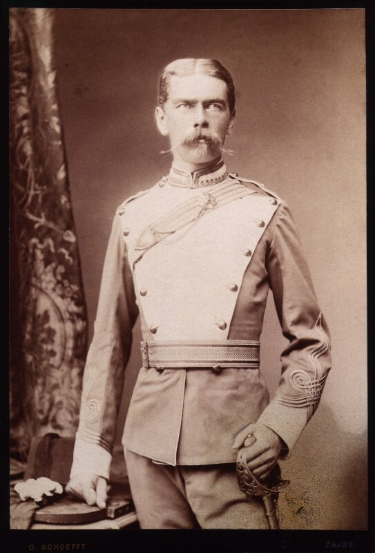 Herbert Kitchener, 1st Earl Kitchener, by Otto Schoefft, October 1884-June 1885 - NPG x15599 - © National Portrait Gallery, London