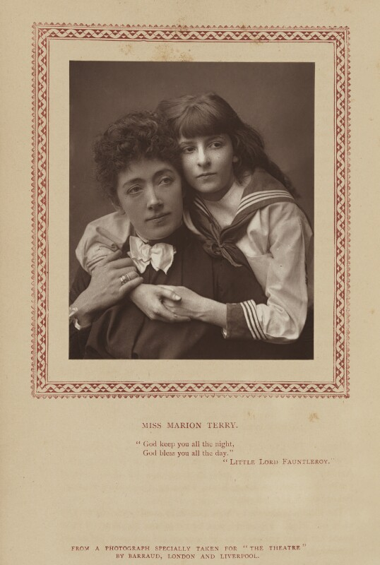 Npg Ax9347 Marion Terry As Mrs Errol And Vera Beringer As Cedric Errol In The Real Little Lord Fauntleroy Portrait National Portrait Gallery