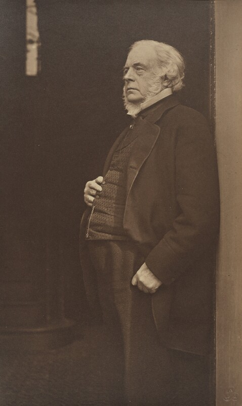 John Bright, by Rupert Potter, September 1879 - NPG P862 - © National Portrait Gallery, London