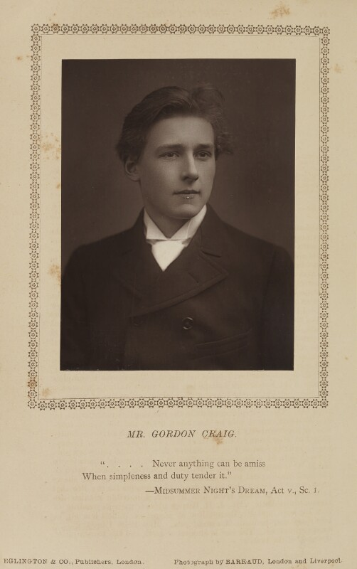 Gordon Craig, by Herbert Rose Barraud, published by  Eglington & Co, published 1 February 1890 - NPG Ax9362 - © National Portrait Gallery, London