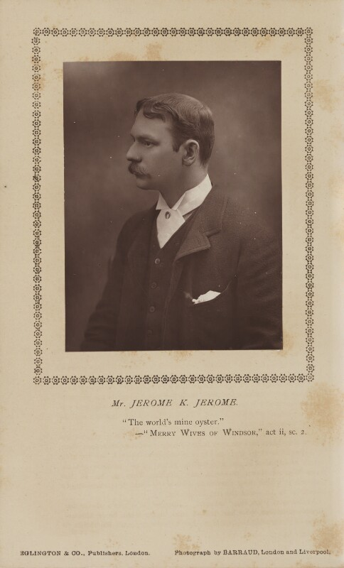 Jerome Klapka Jerome, by Herbert Rose Barraud, published by  Eglington & Co, published 1 June 1890 - NPG Ax9370 - © National Portrait Gallery, London