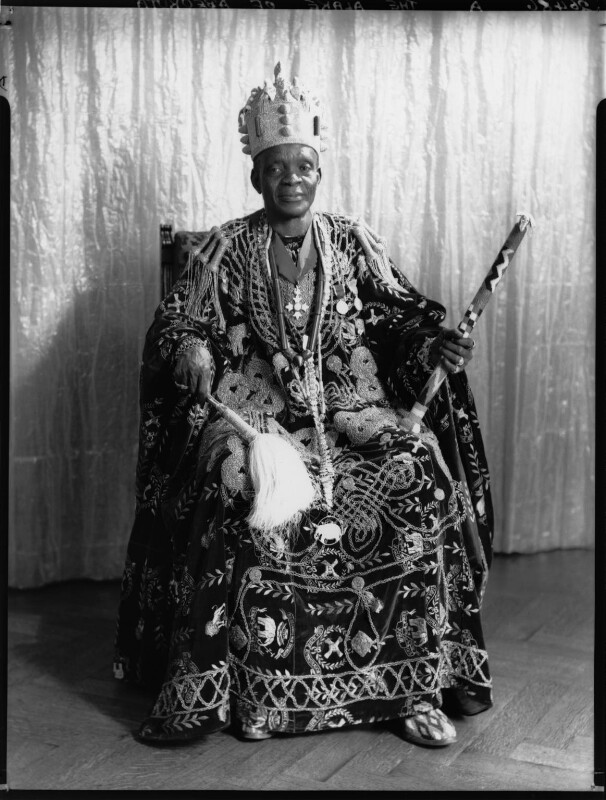 Ladapo Samuel Ademola II, King of Abeokuta, by Hay Wrightson, 11 June 1937 - NPG x132161 - © National Portrait Gallery, London