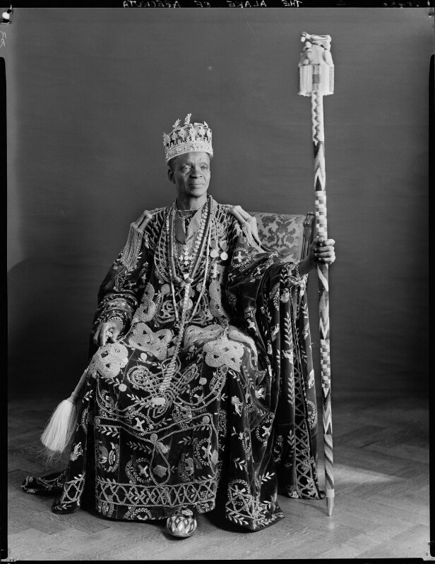 Ladapo Samuel Ademola II, King of Abeokuta, by Hay Wrightson, 11 June 1937 - NPG x132163 - © National Portrait Gallery, London