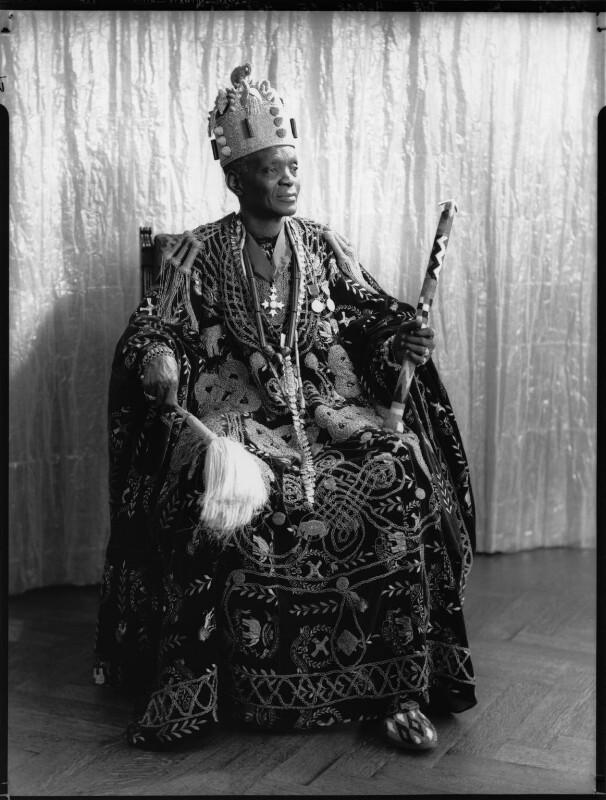 Ladapo Samuel Ademola II, King of Abeokuta, by Hay Wrightson, 11 June 1937 - NPG x132167 - © National Portrait Gallery, London