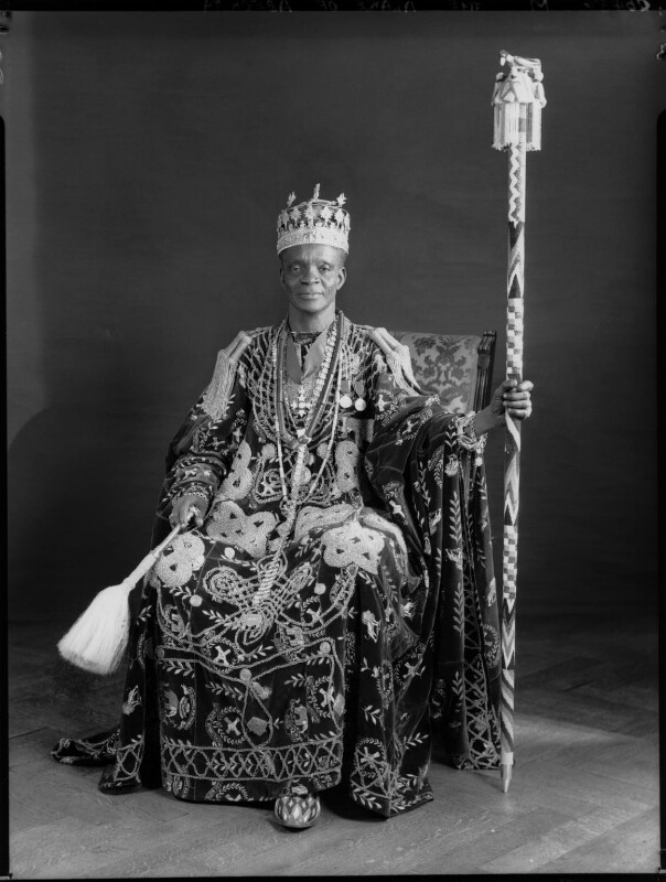 Ladapo Samuel Ademola II, King of Abeokuta, by Hay Wrightson, 11 June 1937 - NPG x132169 - © National Portrait Gallery, London