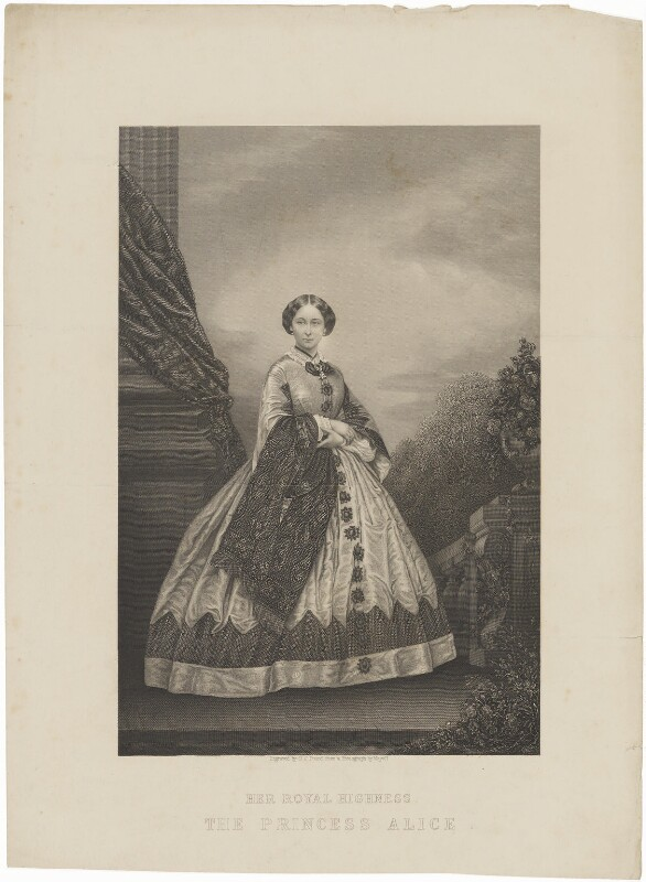 Princess Alice, Grand Duchess of Hesse, by Daniel John Pound, published by  Illustrated News of the World, after  John Jabez Edwin Mayall, 1860s - NPG D33822 - © National Portrait Gallery, London