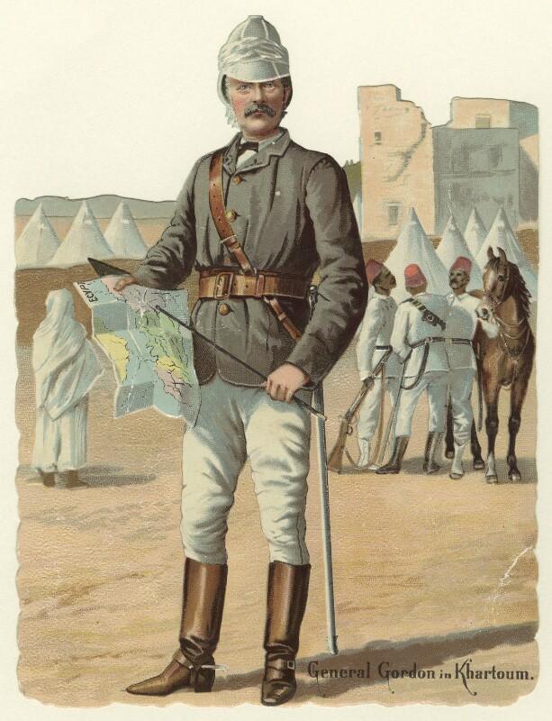 Charles George Gordon ('General Gordon in Khartoum'), by Unknown artist, circa 1884-1885 - NPG D33853 - © National Portrait Gallery, London