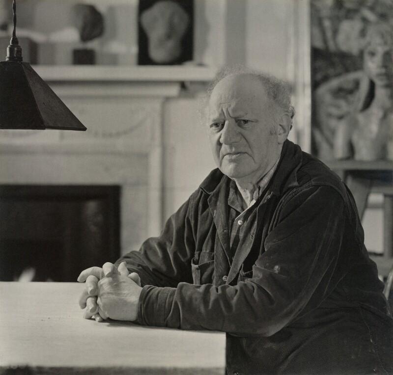 Jacob Epstein, by Geoffrey Ireland, 1950s - NPG x32725 - © Geoffrey Ireland / National Portrait Gallery, London