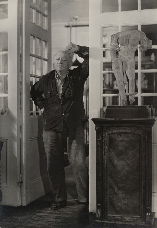 Jacob Epstein, by Geoffrey Ireland, 1950s - NPG x8495 - © Geoffrey Ireland / National Portrait Gallery, London