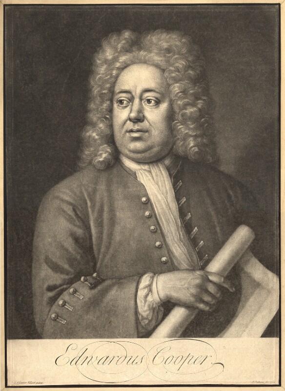 Edward Cooper, by Peter Pelham, after  Jan van der Vaart, 1724 - NPG D9315 - © National Portrait Gallery, London