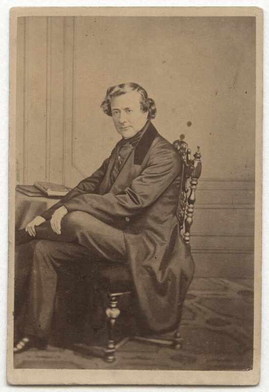 Thomas Milner Gibson, by John Burton & Co, mid 1860s - NPG Ax8660 - © National Portrait Gallery, London