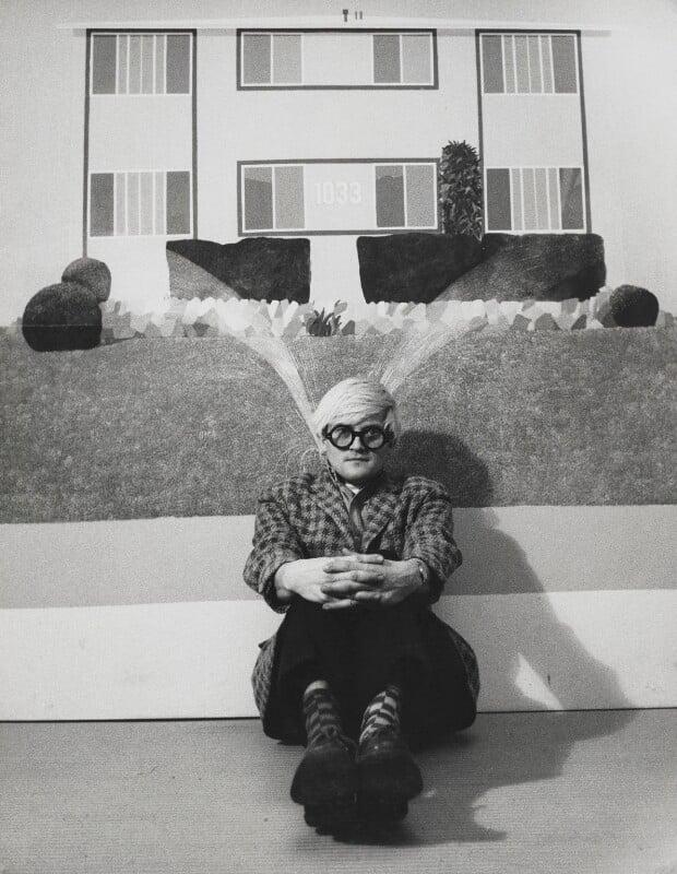 David Hockney, by Jorge ('J.S.') Lewinski, 1968 - NPG x13726 - If the sitter is a painter or sculptor: