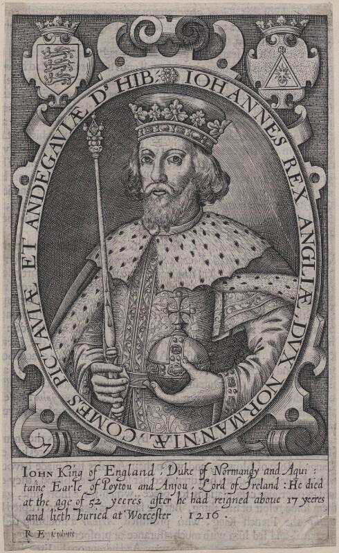 King John, by Renold or Reginold Elstrack (Elstracke), 1618 - NPG D33928 - © National Portrait Gallery, London
