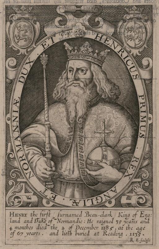 King Henry I, by Renold or Reginold Elstrack (Elstracke), 1618 - NPG D33872 - © National Portrait Gallery, London