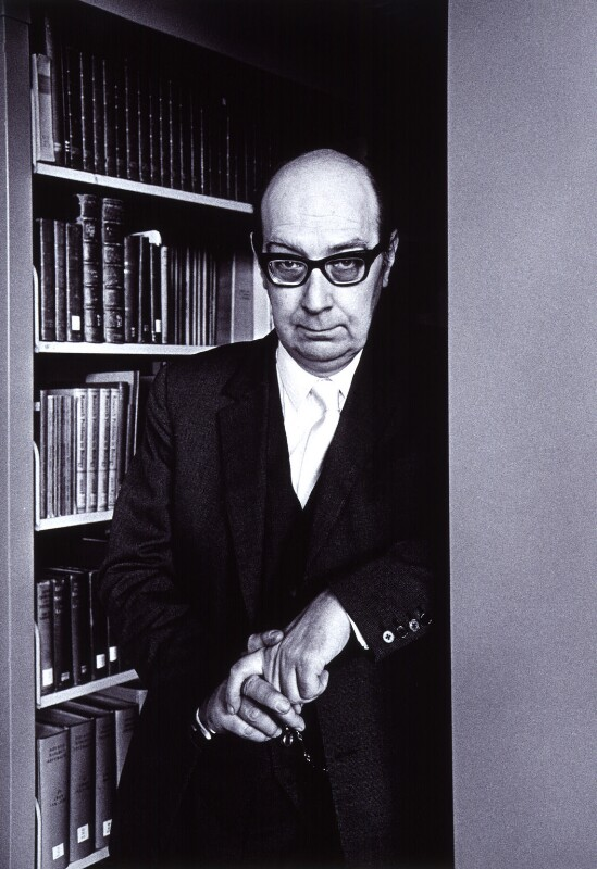 Philip Larkin, by Fay Godwin, 1974 - NPG x12937 - © estate of Fay Godwin / British Library / National Portrait Gallery, London