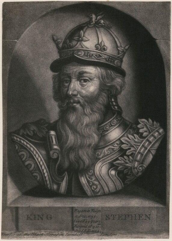 King Stephen, by John Faber Jr, after  Unknown artist, circa 1731 - NPG D33881 - © National Portrait Gallery, London