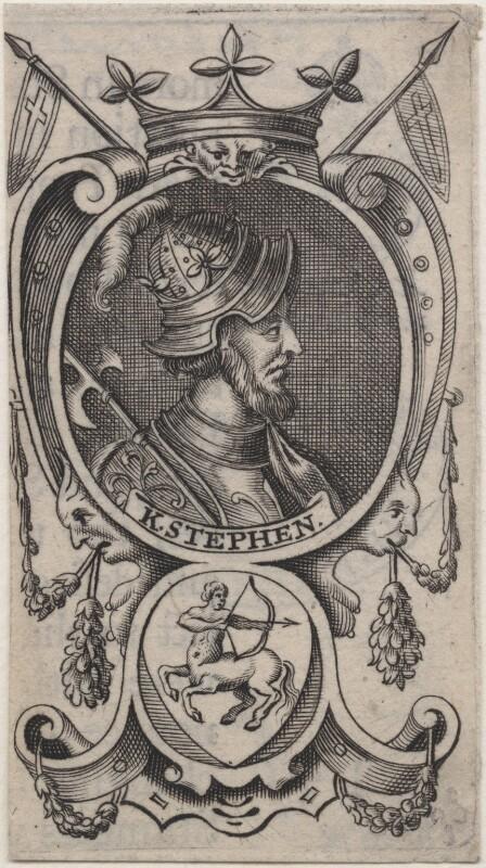 Fictitious portrait called King Stephen, after Renold or Reginold Elstrack (Elstracke), (1618) - NPG D33878 - © National Portrait Gallery, London