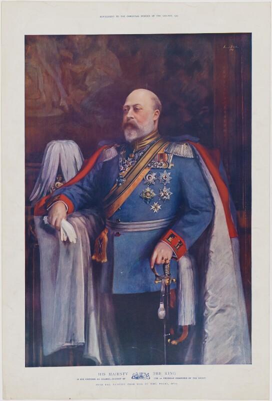 King Edward VII, published by The Graphic, after  Emil Fuchs, published December 1903 (1903) - NPG D33847 - © National Portrait Gallery, London