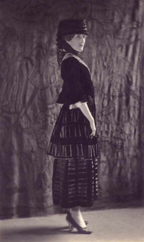 Margaret Emma Alice ('Margot') Asquith (née Tennant), Countess of Oxford and Asquith, by Howard Instead, 1920s - NPG Ax24999 - © National Portrait Gallery, London