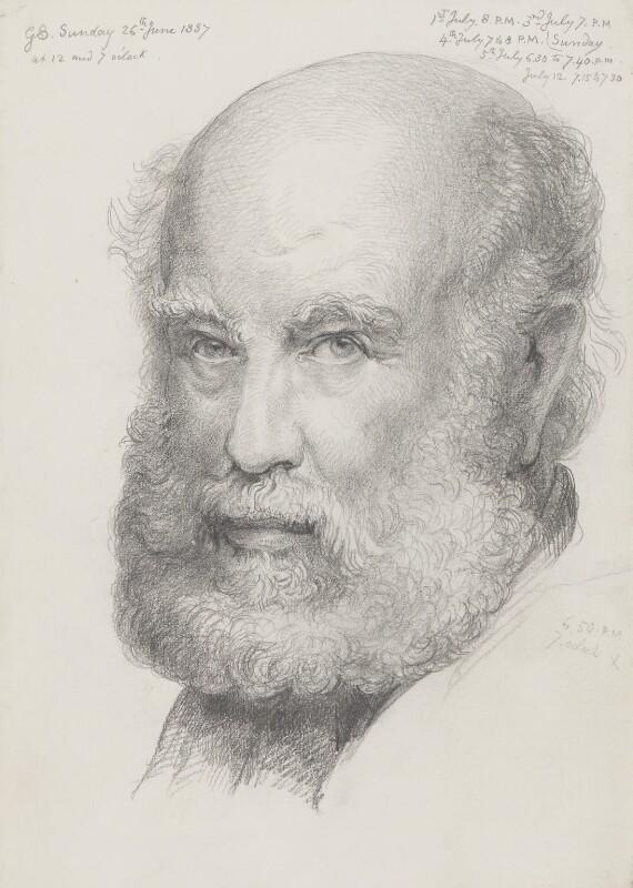 Sir George Scharf, by Sir George Scharf, 1887 - NPG 4053(1) - © National Portrait Gallery, London