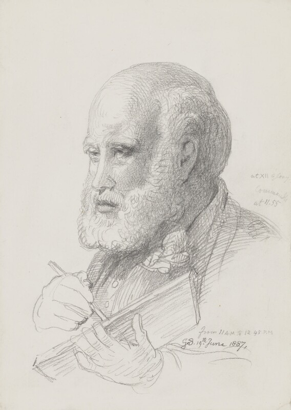 Sir George Scharf, by Sir George Scharf, 1887 -NPG 4053(2) - © National Portrait Gallery, London