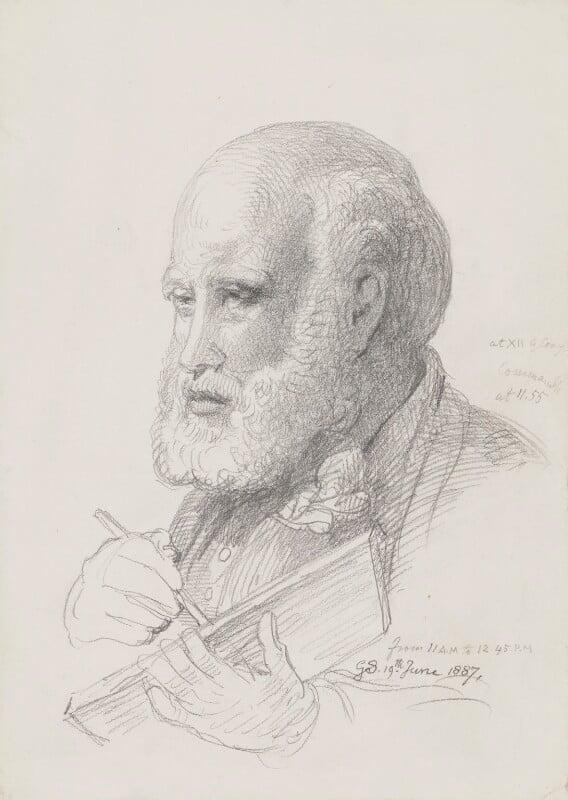 Sir George Scharf, by Sir George Scharf, 1887 - NPG 4053(2) - © National Portrait Gallery, London