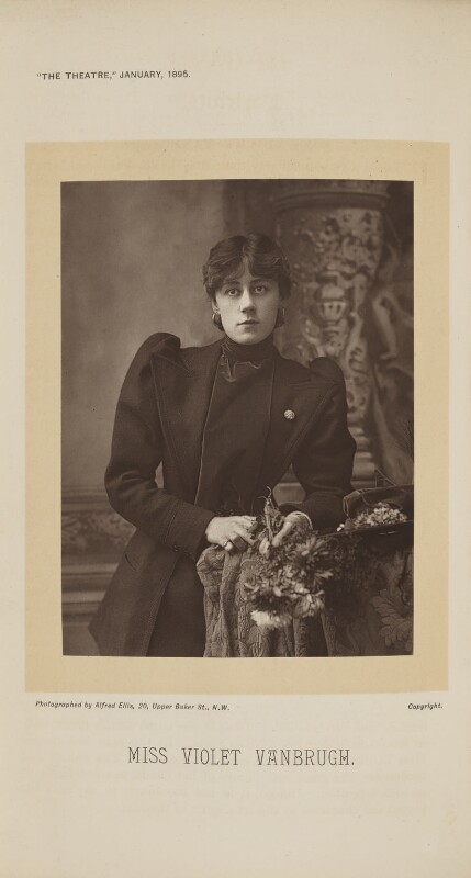 Violet Vanbrugh (Violet Augusta Mary Barnes), by Alfred Ellis, published 1 January 1895 - NPG Ax28870 - © National Portrait Gallery, London
