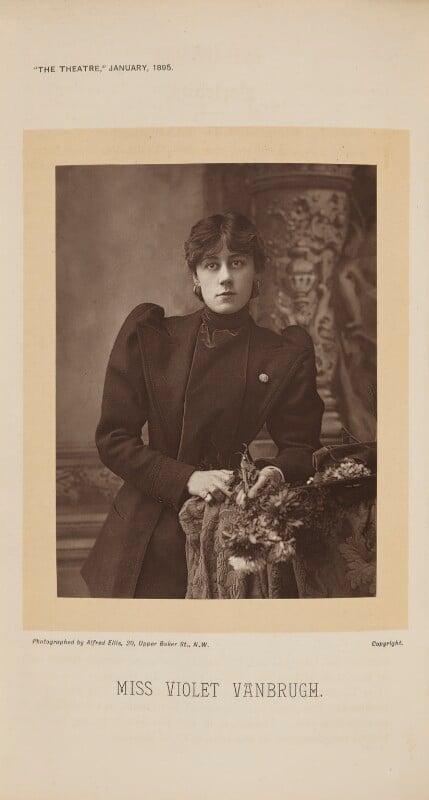 Violet Vanbrugh (Violet Augusta Mary Barnes), by Alfred Ellis, published 1 January 1895 - NPG Ax28870 - © National Portrait Gallery, London
