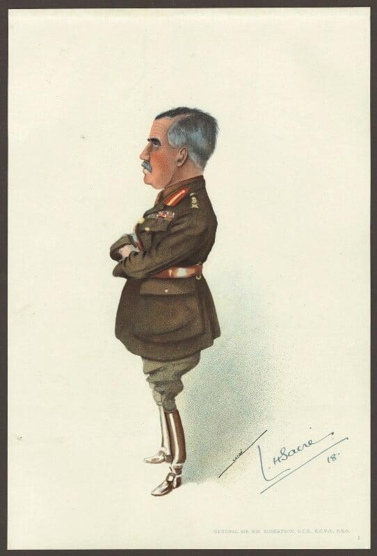 Sir William Robert Robertson, 1st Bt, by Lester Howard Sacré, published 1918 - NPG D33958 - © estate of Lester Howard Sacré / National Portrait Gallery, London