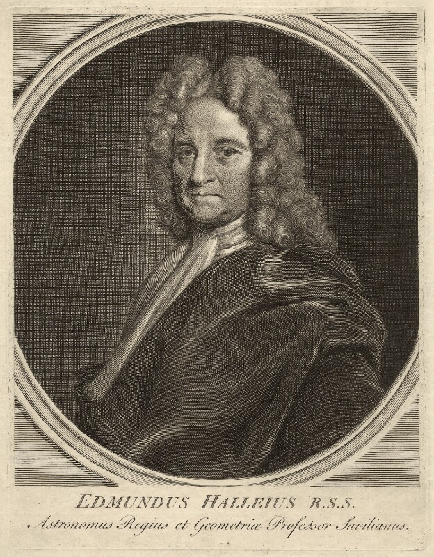 Edmond Halley, after Richard Phillips, (circa 1721) - NPG D33975 - © National Portrait Gallery, London