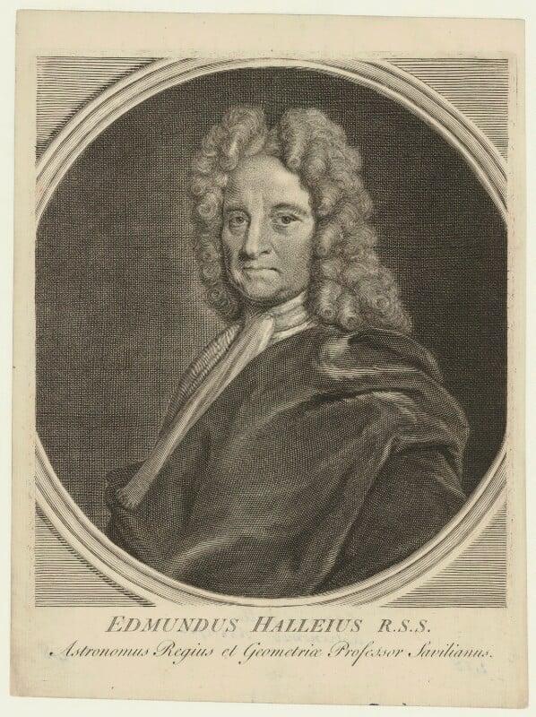 Edmond Halley, after Richard Phillips, (circa 1721) - NPG D33976 - © National Portrait Gallery, London