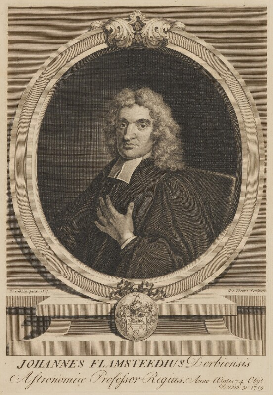 John Flamsteed, by George Vertue, after  Thomas Gibson, 1721 (1712) - NPG D33977 - © National Portrait Gallery, London